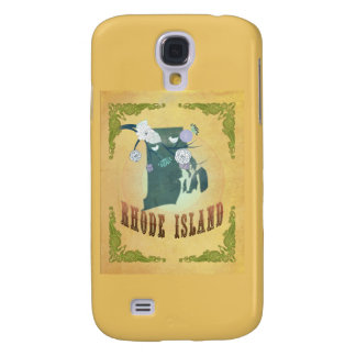 Rhode Island State Map- Passion Fruit Yellow Samsung Galaxy S4 Case