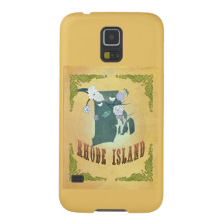 Rhode Island State Map- Passion Fruit Yellow Galaxy S5 Covers