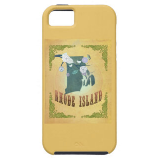 Rhode Island State Map- Passion Fruit Yellow iPhone 5 Cover