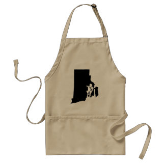 Rhode Island State Outline Adult Apron