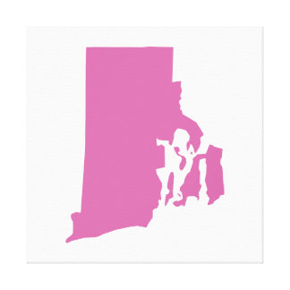 Rhode Island State Outline Canvas Print