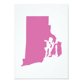 Rhode Island State Outline Invitations