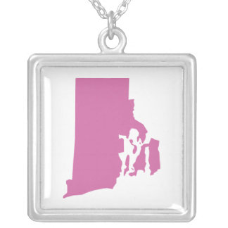 Rhode Island State Outline Personalized Necklace