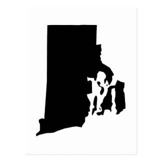 Rhode Island State Outline Postcard