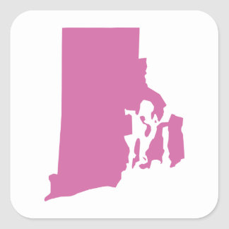 Rhode Island State Outline Square Sticker
