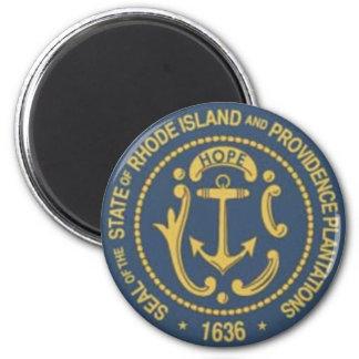 Rhode Island State Seal 2 Inch Round Magnet