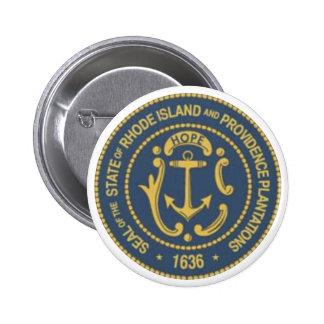 Rhode Island State Seal Pinback Button