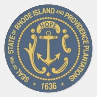 Rhode Island State Seal Classic Round Sticker