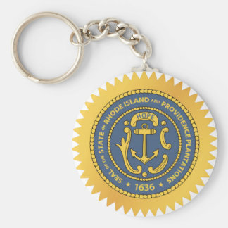 Rhode Island State Seal Keychain