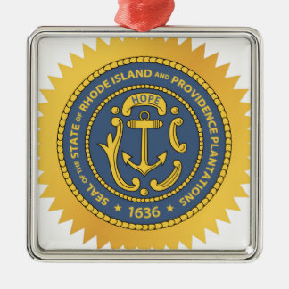 Rhode Island State Seal Metal Ornament