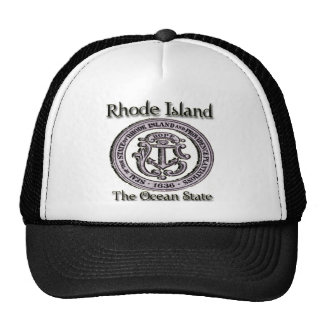 Rhode island State Seal Ocean State Mesh Hats