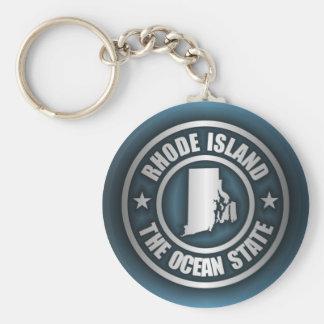 Rhode Island Steel (B) Basic Round Button Keychain