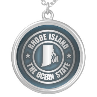 Rhode Island Steel (B) Silver Plated Necklace