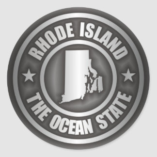 Rhode Island Steel Classic Round Sticker