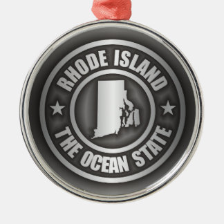 Rhode Island Steel Metal Ornament