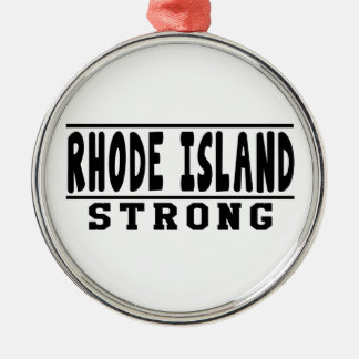 Rhode Island Strong Designs Round Metal Christmas Ornament