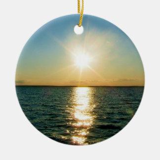 Rhode Island sunset ornament