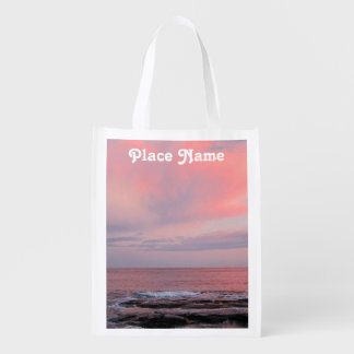 Rhode Island Sunset Reusable Grocery Bags