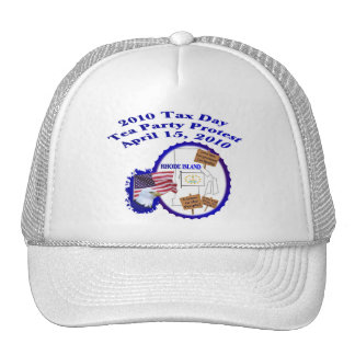 Rhode Island Tax Day Tea Party Protest Trucker Hat