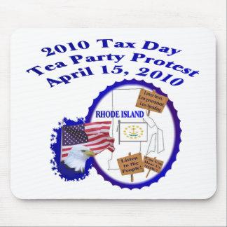 Rhode Island Tax Day Tea Party Protest Mouse Pad