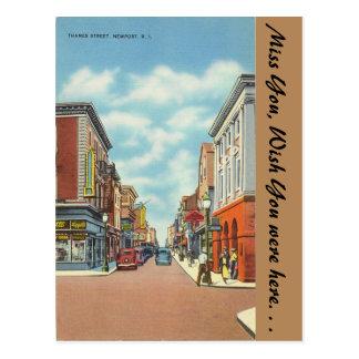 Rhode Island, Thames Street, Newport Postcard
