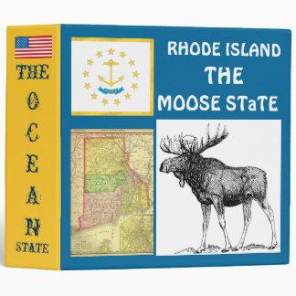 Rhode Island: The Moose STaTE/ The Bear State Vinyl Binders