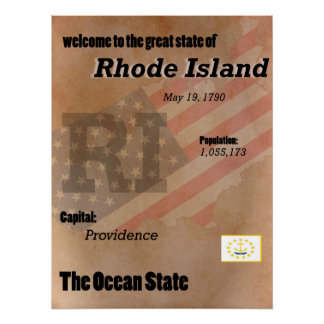 Rhode Island The Ocean State Classic Poster