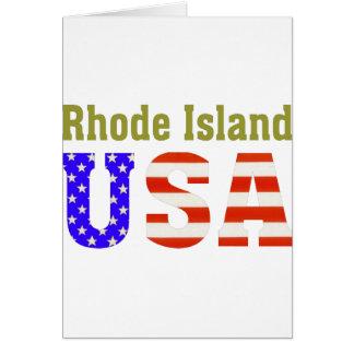 Rhode Island USA! Card