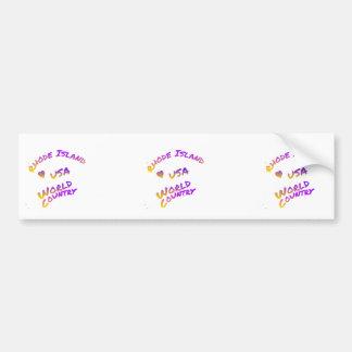 Rhode Island usa world country,  colorful text art Bumper Sticker