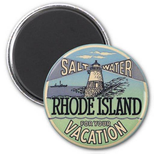 Rhode Island Vintage Travel 2 Inch Round Magnet