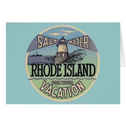 Rhode Island Vintage Travel Greeting Card