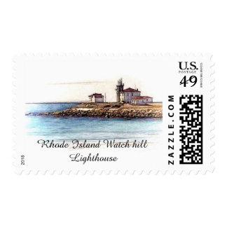 Rhode Island Watch hill Lighthouse Postage