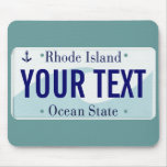 Rhode Island wave ocean state plate mouse pad
