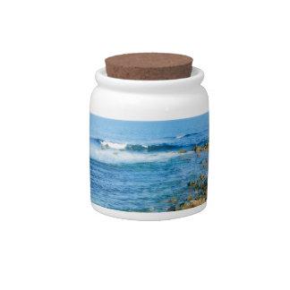 Rhode Island waves jar Candy Jars