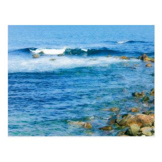 Rhode island waves Postcard print