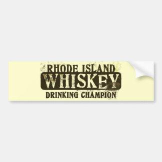 Rhode Island Whiskey Drinking Champion Bumper Sticker