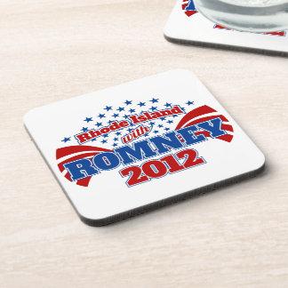 Rhode Island with Romney 2012 Drink Coasters