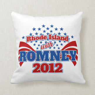 Rhode Island with Romney 2012 Throw Pillow
