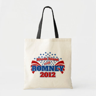 Rhode Island with Romney 2012 Tote Bag