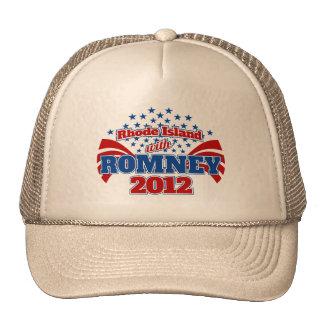 Rhode Island with Romney 2012 Trucker Hat