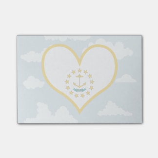 Rhode Islander Flag on a cloudy background Post-it® Notes
