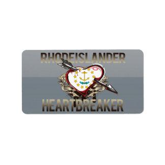 Rhode Islander Heartbreaker Custom Address Label