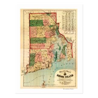 Rhode IslandPanoramic MapRhode Island Postcard