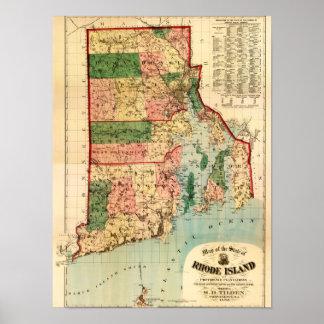 Rhode IslandPanoramic MapRhode Island Poster