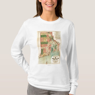 Rhode IslandPanoramic MapRhode Island T-Shirt