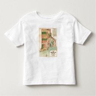 Rhode IslandPanoramic MapRhode Island Toddler T-shirt