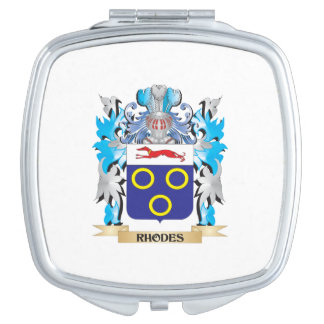 Rhodes Coat of Arms - Family Crest Mirror For Makeup