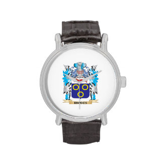 Rhodes Coat of Arms - Family Crest Wrist Watch