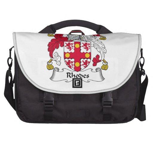 Rhodes Family Crest Laptop Bags