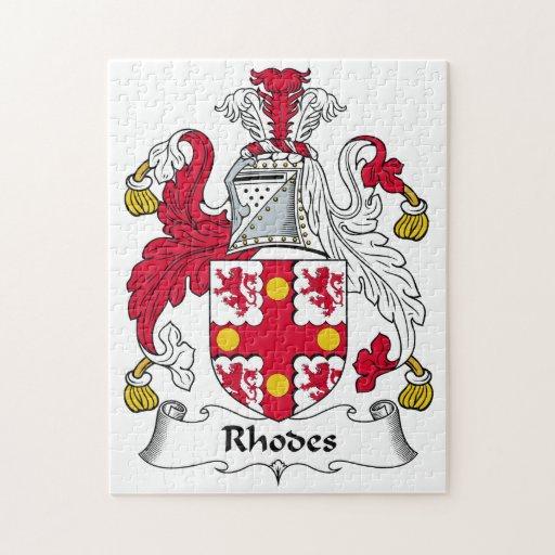 Rhodes Family Crest Puzzle